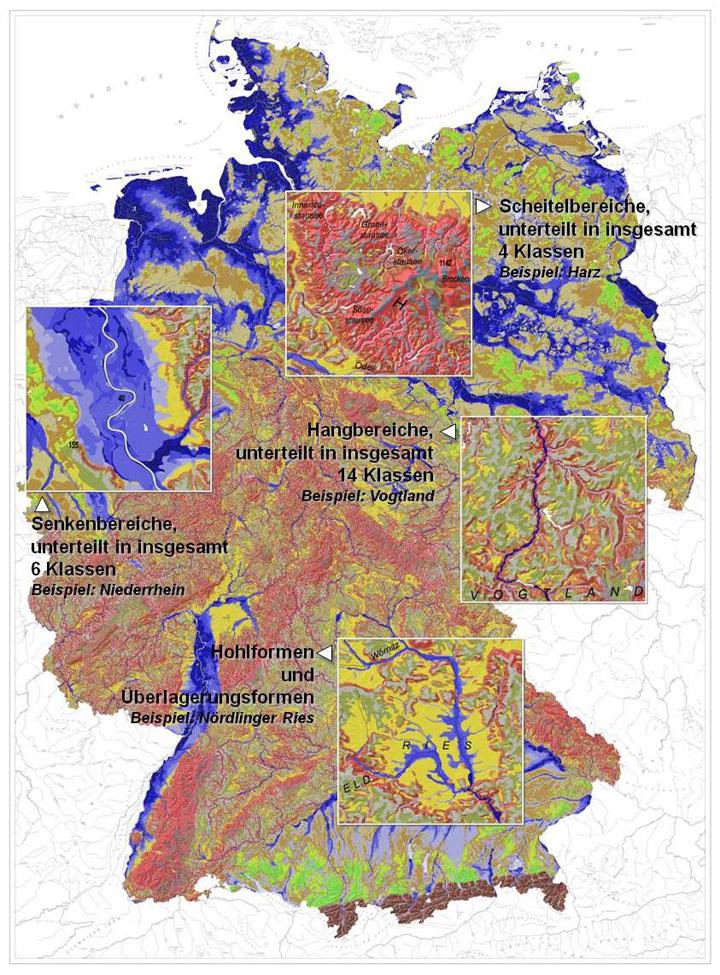 Bgr Boden Die Geomorphographische Karte Der Bundesrepublik