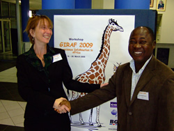 "One Geology ""buddies"": John Duodu, Director of the Geological Survey of Ghana, and Kristine Asch, OneG coordinator Germany,  BGR"